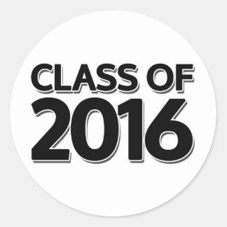 Clase de 2016 pegatina redonda
