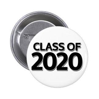 Clase de 2020 pin redondo de 2 pulgadas