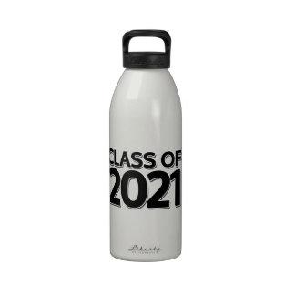 Clase de 2021 botella de agua reutilizable