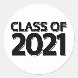 Clase de 2021 etiqueta redonda