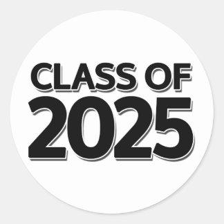 Clase de 2025 pegatina redonda