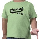 Clase de 2026, camiseta divertida linda del bebé