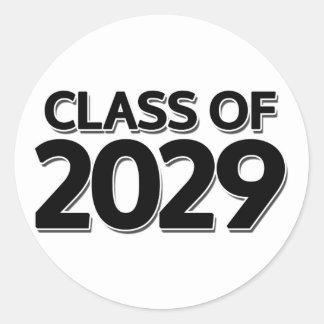 Clase de 2029 pegatina redonda
