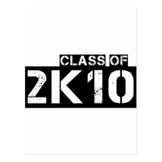 clase de 2k10 (2010) postal