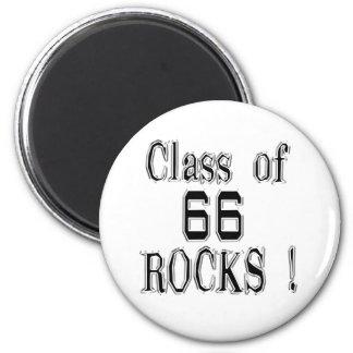 ¡Clase de '66 rocas! Imán