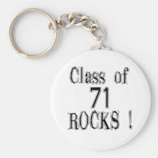 ¡Clase de '71 rocas! Llavero