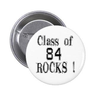 ¡Clase de 84 rocas Botón Pins