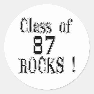 ¡Clase de '87 rocas! Pegatina