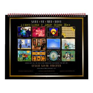 Clase de art déco - 12 meses - personalizada calendarios