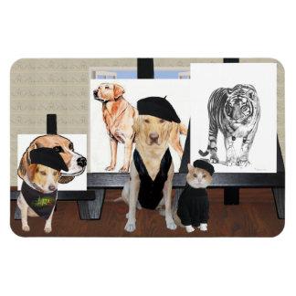 Clase de arte divertida adaptable del mascota imán flexible