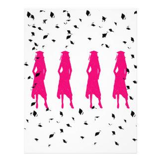 """Clase de aviador rosado de 2010 siluetas folleto 8.5"""" x 11"""""""