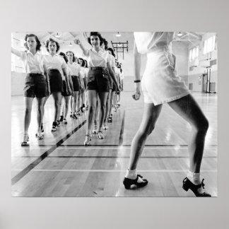 Clase de baile de golpecito 1942 impresiones