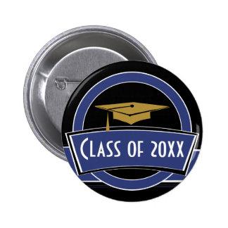 Clase de botón del mayor de la graduación pin redondo de 2 pulgadas