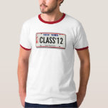 Clase de camiseta de la graduación de la placa de poleras