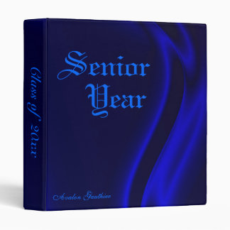 """""""Clase"""" de carpeta de seda azul de la graduación m"""