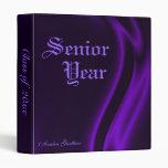 """Clase"" de carpeta de seda púrpura de la graduació"