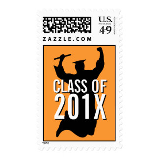 Clase de celebrar el sello anaranjado graduado del