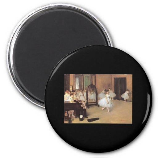 Clase de danza de Edgar Degas Imán Redondo 5 Cm