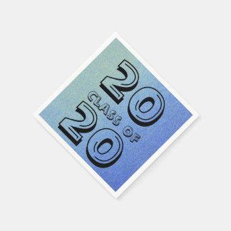 Clase de deslumbrar mirada azul de la arena del servilletas desechables