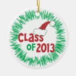 Clase de día de fiesta de 2013 navidad ornamento para arbol de navidad