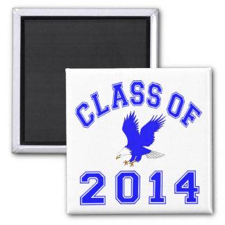 Clase de Eagle 2014 - azul 2 Imán Para Frigorifico