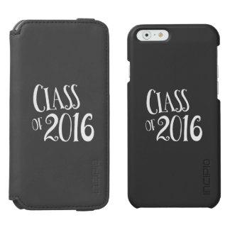 Clase de escritura blanco y negro del vintage 2016 funda billetera para iPhone 6 watson