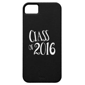 Clase de escritura blanco y negro del vintage 2016 iPhone 5 funda