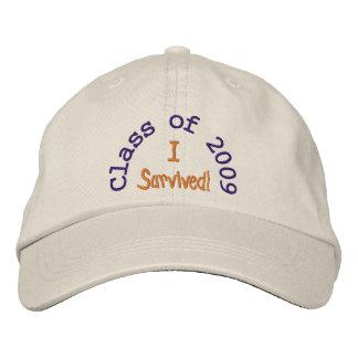 Clase de gorra bordado 2009 gorra de béisbol