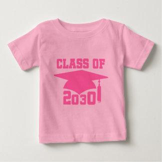 Clase de gorra rosado del graduado 2030 playera