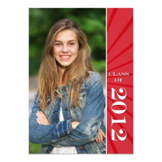 """Clase de graduación de Starburst de 2012 rojos Invitación 5"""" X 7"""""""