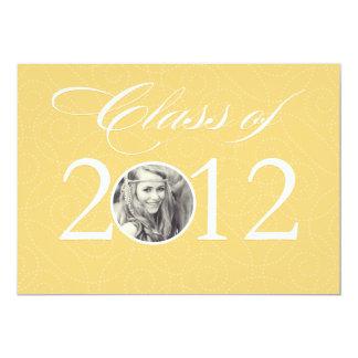 """Clase de graduación del 2012% el pipe% invitación 5"""" x 7"""""""