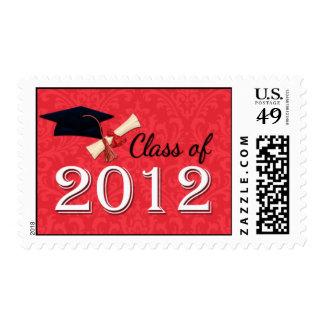 Clase de graduación del damasco de 2012 rojos sello