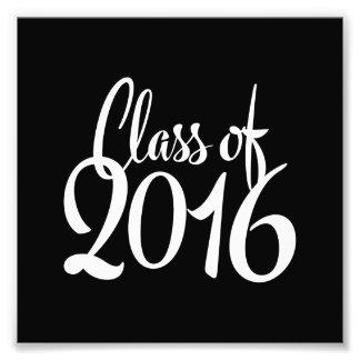 Clase de graduación retra de la tipografía 2016 fotografía