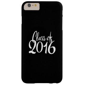 Clase de graduación retra de la tipografía 2016 funda para iPhone 6 plus barely there