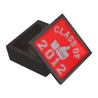 Clase de gris de 2012 pulgares para arriba - cajas de recuerdo de calidad
