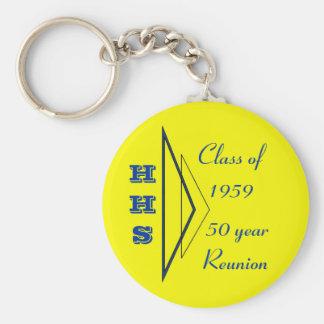 Clase de Hastings de 1959 50.as reuniones Llavero Redondo Tipo Pin