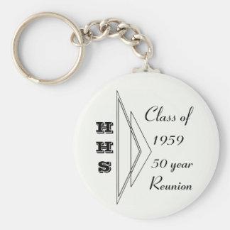 Clase de Hastings de 1959 reunión de 50 años Llavero Redondo Tipo Pin