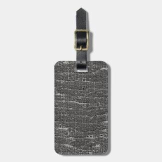 Clase de hormigón gris etiqueta para maleta
