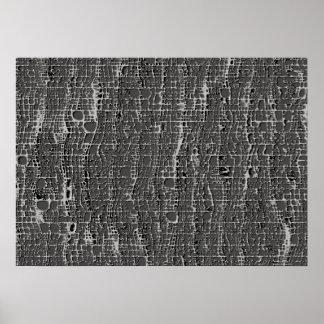 Clase de hormigón gris póster