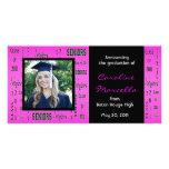 Clase de invitación del graduado de 2011 rosas tarjetas personales