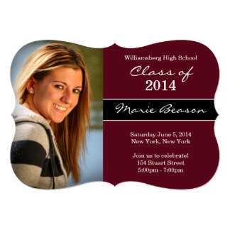 Clase de invitación marrón de la graduación 2014