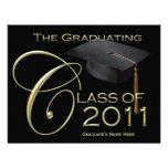 Clase de invitación negra lisa de la graduación 20