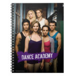 Clase de la academia de la danza libros de apuntes con espiral