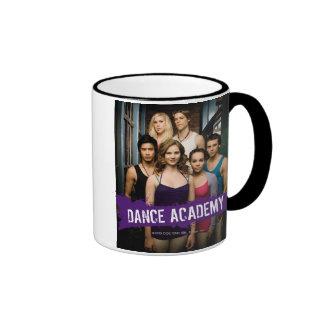 Clase de la academia de la danza taza a dos colores