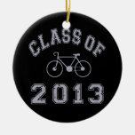 Clase de la bici 2013 - gris 2.o adorno redondo de cerámica