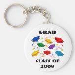 Clase de la celebración 2009 de la graduación llavero personalizado