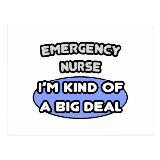 Clase de la enfermera de la emergencia… de una gra tarjeta postal