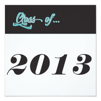 """Clase de la escritura simple limpia 2013 de la invitación 5.25"""" x 5.25"""""""