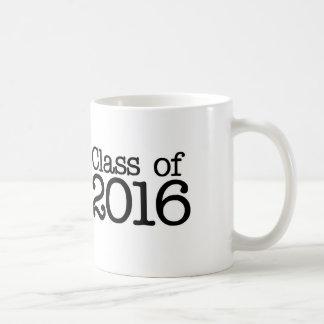 Clase de la fiesta de graduación 2016 taza clásica