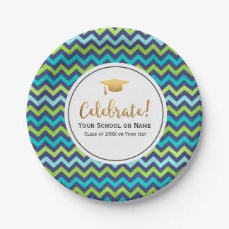 Clase de la fiesta de graduación de 2016 Chevron Platos De Papel